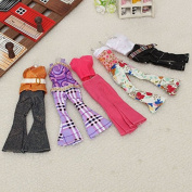 5x Randomly Selected Trousers Outfit Sets Clothes for Barbie Dolls
