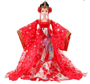 Chinese Bride Costume Barbie Doll As Gift For Girl