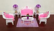 Barbie Size Dollhouse Furniture- Living Room Grand Parlour Sofa Set
