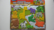 LIFT OUT ANIMAL PUZZLE WITH ENGLISH/SPANISH NAMES