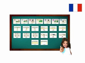 Fiches de vocabulaire - Calendrier - Calendar Flashcards in French -