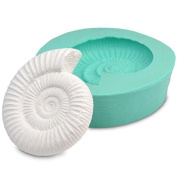Small Ammonite Fossil silicone mould for making plaster casts