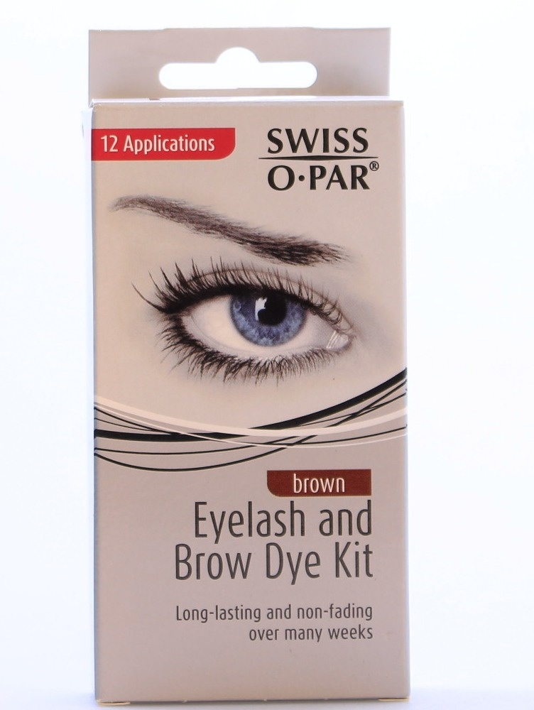 Swiss O Par Eyelash And Brow Dye Kit Brown By Swissopar Shop