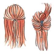 2PCS Topsy Tail Magic Simple Hair Braid Braider Ponytail Maker Styling Tool Set