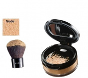 Avon Calming Effect NUDE Loose Powder Mineral Foundation and kabuki brush