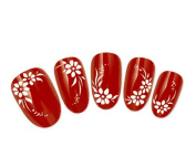 COME 2 BUY - Nail Art Tatoo/Wrap Water Transfer Decals Pretty White Flowers & Leaf Design For Nail Art / Cell Phone Case / Invitation Cards Decorations Décor