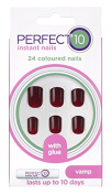 Eylure Perfect 10 Colour Nails, Vamp