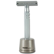 Feather AS-D2S Double Edged All Stainless Safety Razor and Stand