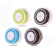 Compatible Replacement Brush Heads Value 4 Pack. Includes Deep Pore, Acne, Sensitive, Normal, Works on Face and Body