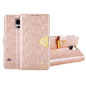 Ukamshop(TM)Luxury Leather Flip Wallet Cover Case For Samsung Galaxy S5 i9600