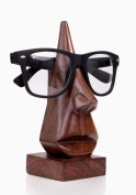 Quirky Hand Carved Nose Shaped Wooden Spectacles Sunglasses or Eyeglass Holder Stand