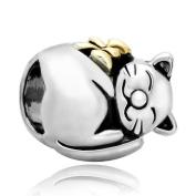 Pugster Cat Animal Charm Jewellery New Sale Cheap Beads Fits Pandora Charms Bracelet