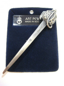 100% Pewter Scottish Culloden Antique Kilt Pin, By Art Pewter