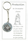 Wish Charm Keyring - Protection - St Christopher Charm Handmade by Jeannieparnell
