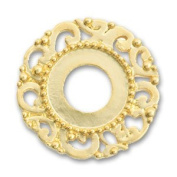 Fancy metal spacer 24mm Gold tone x1