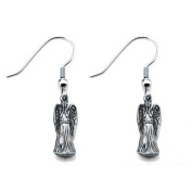 Inox Doctor Who Weeping Angels Dangle Hook Earrings