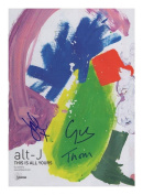 alt-J Autographed Signed A4 21cm x 29.7cm Photo Poster