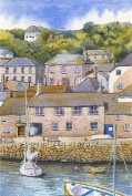 Mousehole Cornwall art print from a watercolour painting by Alex Pointer