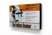 20cm X 30cm Block Mounted Print Endless Summer Surfing
