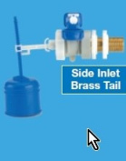 Professional Dudley Hydroflo Equilibrium Float Valve with Plastic tail Side Entry Inlet Valve 1.3cm BSP