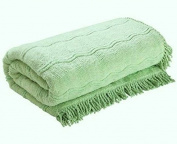 The Bettersleep Company Candlewick Bedspread Double Bed - Green. Luxury Traditional Bed Throws