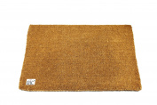 EHC 60 x 90 cm Natural Coco Plain Brush Beech Coir Door Mat, Beige