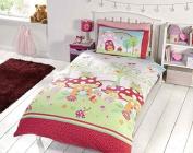 Garden Mushroom Butterfly Red Green Blue Kids Childrens Boys Girls Single Bed Size Duvet Cover Hallways ®