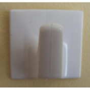 Pair of White Self Adhesive Hooks - LS51-Square Shaped-Ideal for use with Holland Plastics Strip blinds and many other uses.