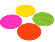 Homgaty Round Grid Silicone Heat Resistant Mat Cup Coaster 1 Piece