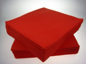 Pack of 50 Luxury RED Airlaid Napkins - Linen Feel