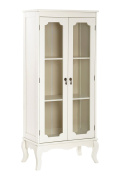 Premier Housewares Marcella Cabinet with 2 Glass Doors - Ivory