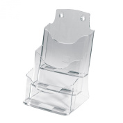 Sigel LH132 Table-Top Literature Holder Acrylic with 3 compartments for A5