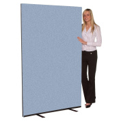 Office Screen / Partition 1500mm W x 1800mm H, woolmix fabric Crystal Portrait