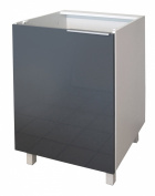 Berlenus CP6BG Kitchen Base Unit 60 cm 1 Door High-Gloss Grey