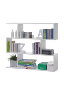 Ziggy White GlossShort Wide Bookcase Room Divider - by Furniture Factor