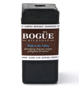Bogue Milk Soap, No.4 Goat Milk Bar-130ml (Walk in the Valley) Activated Charcoal with Orange, Petitgrain, Vetiver Essential Oils
