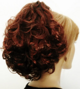 PHOEBE Clip On Hairpiece by Mona Lisa 33-130 Dark Auburn-Copper Red