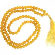 Odishabazaar Yellow Jade Japa Mala for Removing Inner Doshas Awakening Chakras