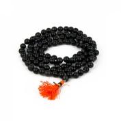 Odishabazaar Black Agate Hakik Japa Mala - Protection Against Bad Evils 108 + 1 Beads