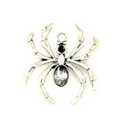 30pcs 15x18mm Antique Silver Lovely Mini Spider Insects Charm Pendant C3582