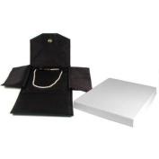 Black Leather Satin Necklace Jewellery Travel Folder Display Case
