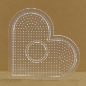 2.6mm beads small heart pegboard for mini artkal fuse beads CP03