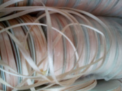"4mm (1/8"") x 29mm(30 yards) petal peach, Double Faced Satin Ribbon, woven edge"