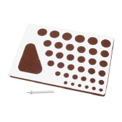 Quilling Board with Slotted Quilling Tool