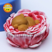 Bear in Flower 3d Mould Soap Mould Silicone Moulds Mould for Soap Mould Silicone Mould Bear Mould.