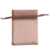 Count of 10 New Retail Chocolate Organza Bags 7.6cm W x 10cm H