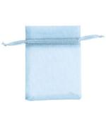 Count of 10 New Retail Aqua Organza Bags 7.6cm W x 10cm H