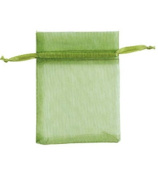 Count of 10 New Retail Basil Organza Bags 7.6cm W x 10cm H