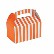 Mini Orange Striped Treat Boxes