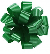 Pom Pom - Pull Out Bows 13cm Emerald Green Pkg/100